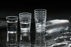 Transparent plastic cup Royalty Free Stock Photo