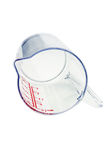Transparent Plastic Measuring Cup Royalty Free Stock Images