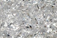 Transparent plastic pieces as background stock photos