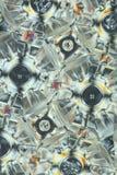 Transparent plastic in polarized light Stock Photo