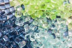 Transparent plastic resin Stock Image