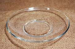 Transparent plate. Stock Photos