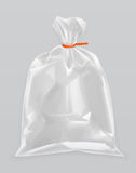 Transparent polyethylene package Stock Photography