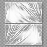 Transparent Polyethylene Plastic Warp With Shadow. Transparent Glossy Polyethylene Plastic Warp With Shadow. EPS10 Vector Stock Images