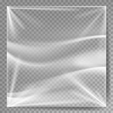 Transparent Polyethylene Vector. Plastic Warp Template For Your Design. Wrinkled Surface For Realistic Effect.  Royalty Free Stock Photos