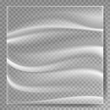 Transparent Polyethylene Vector. Plastic Wrap Texture. Stretched Polyethylene Cover. On Transparent Background stock illustration