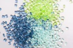 3 transparent polymer resins Stock Image