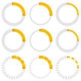 Transparent progress indicators. Preloaders, phase, step indicat Royalty Free Stock Images