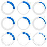 Transparent progress indicators. Preloaders, phase, step indicat. Ors, meters. - Royalty free vector illustration Stock Photos