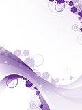 Transparent purple floral frame Royalty Free Stock Photography