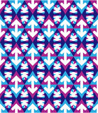 Transparent purple textured endless pattern with overlapping arr Stock Photo