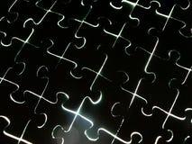 Transparent puzzle Stock Image