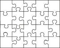 Transparent puzzle Stock Photography