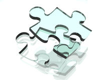 Transparent Puzzle piece Royalty Free Stock Images