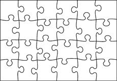 Transparent puzzle vector Royalty Free Stock Images