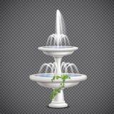 Transparent réaliste de fontaine d'eau de cascade illustration stock