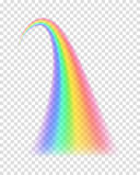 Transparent rainbow. Vector illustration. Royalty Free Stock Photography