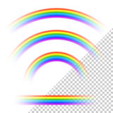 Transparent rainbows collection Royalty Free Stock Image