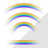 Transparent rainbows collection. Set of transparent rainbows collection Royalty Free Stock Image