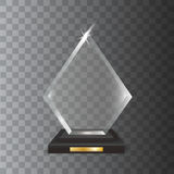 Transparent Realistic Blank Vector Acrylic Glass Trophy Award. A Transparent Realistic Blank Vector Acrylic Glass Trophy Award royalty free illustration