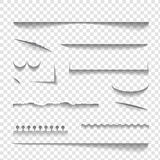 Transparent realistic paper shadow effects Royalty Free Stock Photo