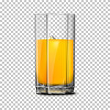 Transparent realistic Vector glass  on plaid background with reflection, for design and branding. Royalty Free Stock Photo