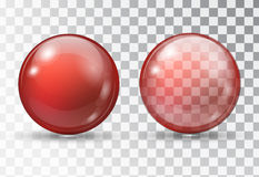 Transparent red ball. Royalty Free Stock Image
