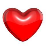 Transparent red candy heart Stock Images