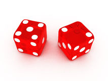 Transparent Red Dice Royalty Free Stock Image