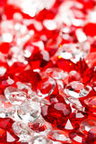Transparent and red glass stones Royalty Free Stock Photos