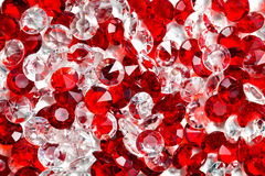 Transparent and red glass stones Stock Image