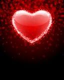 Transparent red heart Stock Photos