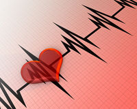 Transparent red heart Stock Photo