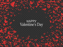 Transparent red hearts. Valentines Day design. Vector illustration. EPS10 Royalty Free Stock Photos