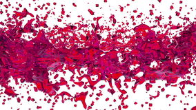 Transparent red paint forming a circle on clear white background. alpha matte, full hd, CG, 3d render stock video
