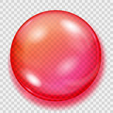 Transparent red sphere with shadow Royalty Free Stock Photography
