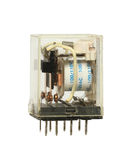 Transparent relay switch Stock Images