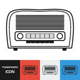 Transparent retro radio icon. Vector icon on different types backgrounds. Eps 10 Royalty Free Stock Photo