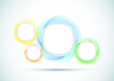 Transparent rings - abstract background for advert Stock Photo