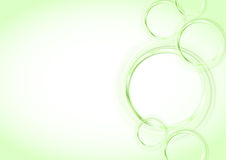 Transparent rings backgrounds series - green Stock Images