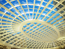 Transparent roof. Of shopping mall Stock Images
