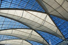 Transparent roof. Of a buisness center in Germany Royalty Free Stock Image