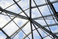Transparent roof purlins Stock Photos