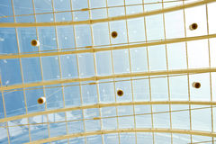 Transparent roof in a shopping center Royalty Free Stock Photo