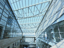 Transparent rooftop. Of shopping mall Royalty Free Stock Image
