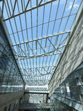 Transparent rooftop. Of shopping mall Stock Photography
