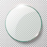 Transparent Round Circle Vector Realistic Illustration. Background Glass Circle Royalty Free Stock Image