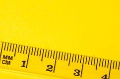 Transparent ruler macro Stock Photography