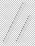 Transparent ruler vector illustration Royalty Free Stock Images