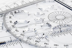 Transparent rulers Stock Photography